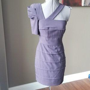 Rare Black Halo One Shoulder Purple Dress